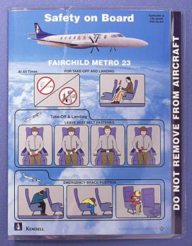 KENDELL AIRLINES - SAFETY CARD FAIRCHILD METRO 23