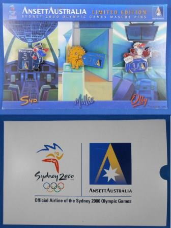 SYDNEY 2000 OLYMPIC MASCOT PIN SET (Set of 3)