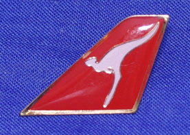 "QANTAS - ""TAIL"" LAPEL BADGE"