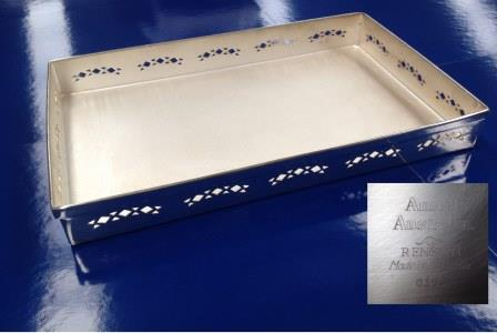 SILVER PLATED SERVING TRAY (First Class)