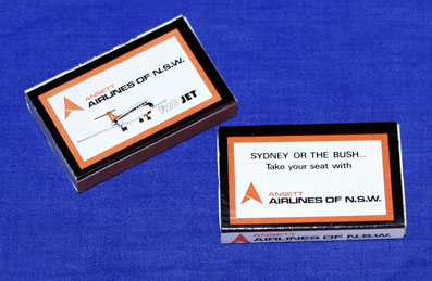 AIRLINES of NSW - MATCH BOX